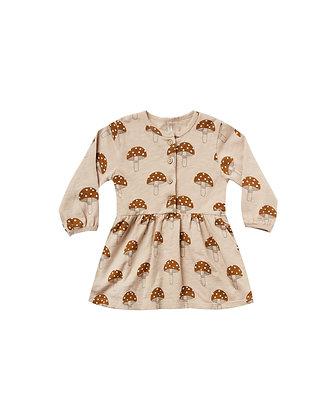 Rylee + Cru Mushroom Button Up Dress (Oat)