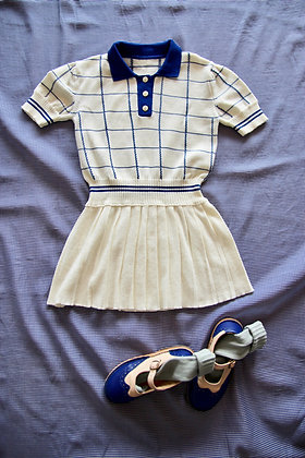 Bonjour Knitted Tennis Dress (Checks - Jacquard)
