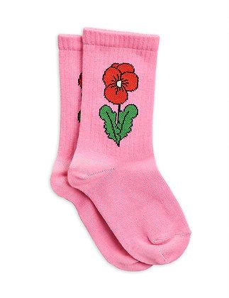 Mini Rodini Viola Socks (Pink)