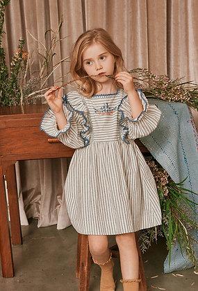 Nellystella Eliza Dress (Farmhouse Stripes)