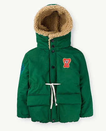 The Animals Observatory Calf Kids Jacket (Green Animals)