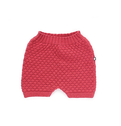 Oeuf Honeycomb Knit Shorts (Cranberry)