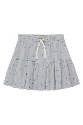 Tiny Cottons Sticks Short Skirt (Pale Grey)