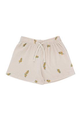 Tiny Cottons Twigs Short (Light Cream/Green)
