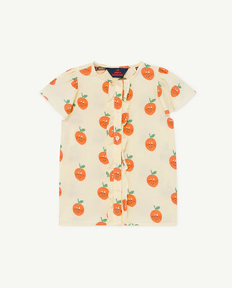 The Animals Observatory Parakeet Kids Blouse (Yellow)