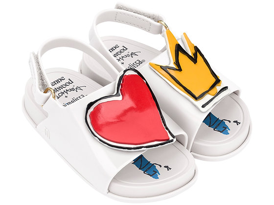 VIVIENNE WESTWOOD + MINI BEACH SLIDE SANDAL (WHITE ROYAL)