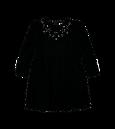 Stella McCartney Girl Velvet Dress With Stars (Black)