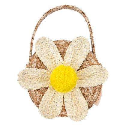 Meri Meri Daisy Straw Bag (White)