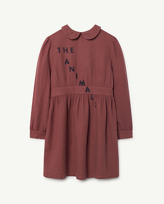 THE ANIMALS OBSERVATORY CANARY KIDS DRESS (MAROON NAVY THE ANIMALS)