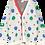 Thumbnail: Beau Loves Ping Pong Knit Cardigan (Red Ecru & Green)