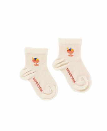 Tiny Cottons Ice Cream Cup Short Socks (Light Cream)