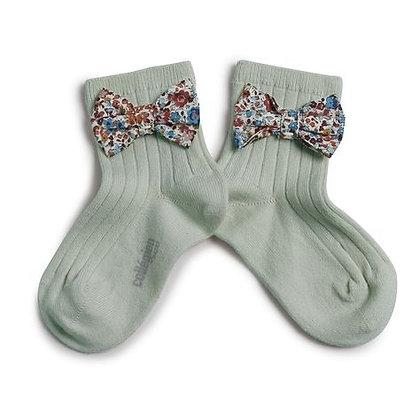 Collégien Liberty Bow Ankle Socks (No. 876  Aigue Marine)