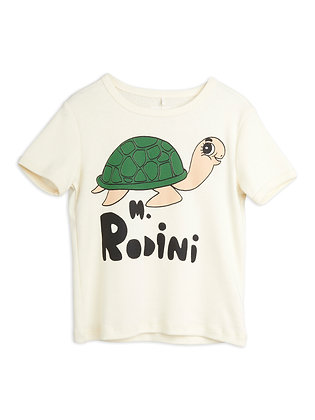 Mini Rodini Turtle Tee (Offwhite)