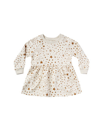 Rylee + Cru Starburst Raglan Dress (Natural)
