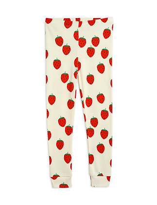 Mini Rodini Strawberry Leggings (Offwhite)