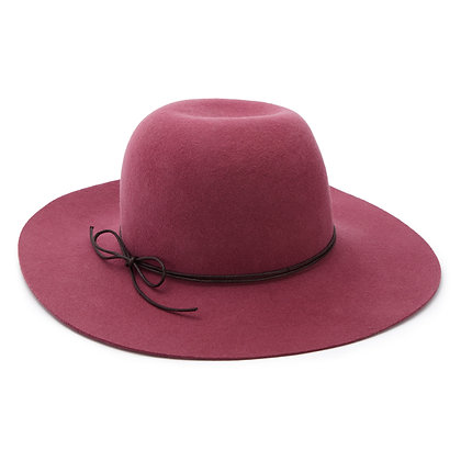 Bonton/Bonbon Wide-Brimmed Hat (Dark Rose)