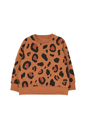 Tiny Cottons Animal Print Sweatshirt (Brown/Dark Brown)