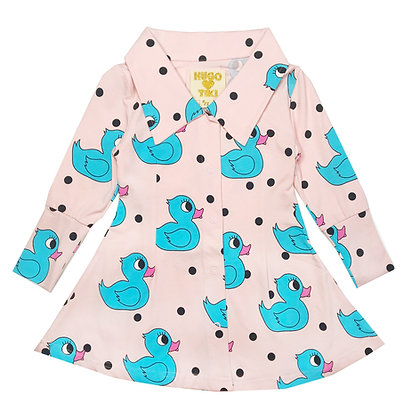 Hugo Loves Tiki Mod Dress (Pink Rubber Ducky)
