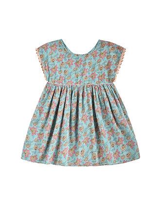 Louise Misha Tapalpa Dress (Turquoise Flowers)