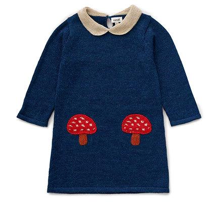 Oeuf Mushroom Pocket Dress(Indigo)