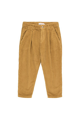 Tiny Cottons Cord Pleated Pant (Mustard)