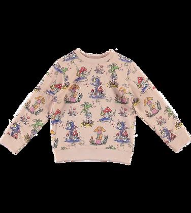 Stella McCartney Kid Mushrooms & Dragons Sweat (Pink)