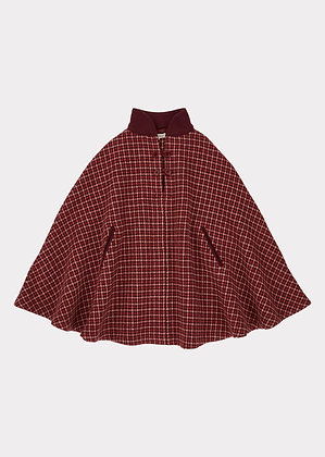 Caramel Lapwing Cape (Red/Berry Check)
