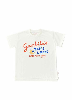 Tiny Cottons Gambita's Graphic Tee (Off-white/Red)