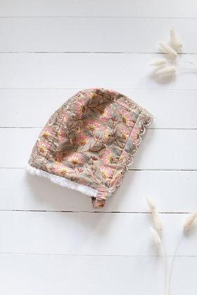 Louise Misha Odia Beanie (Khaki Folk Flowers)