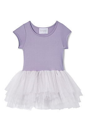 Plum Short Sleeve Tutu Dress (Betty Dusty Purple)