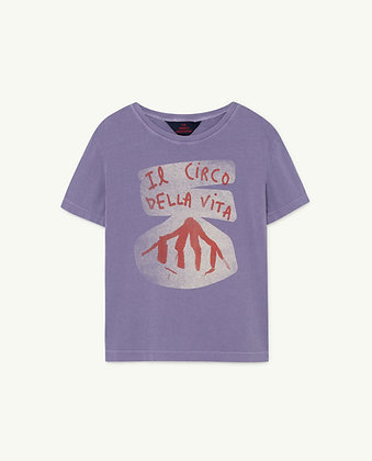 The Animals Observatory Rooster Kids T-Shirt (Purple Circo)