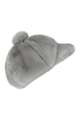 RASPBERRYPLUM FUR CAP (GREY)