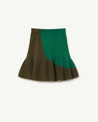 THE ANIMALS OBSERVATORY SWAN KIDS SKIRT (ELECTRIC GREEN)