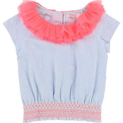 BILLIEBLUSH STRIPED POPLIN BLOUSE