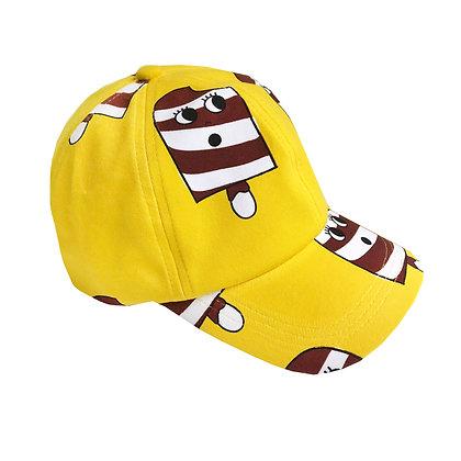 Hugo Loves Tiki Ball Cap - Yellow Ice Cream