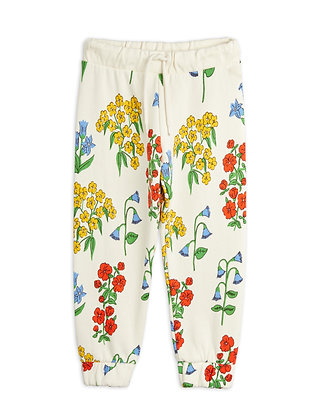 Mini Rodini Snow Flowers Sweatpants (Offwhite)