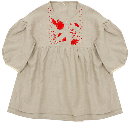 Frou Frou Sans Soucis Dress (Hand Embroidered)