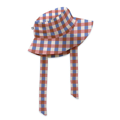 Oeuf Kid Hat with Tie (Flamingo Pink)