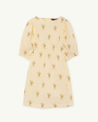 The Animals Observatory Swallow Kids Dress (Yellow Wheat Spikes)