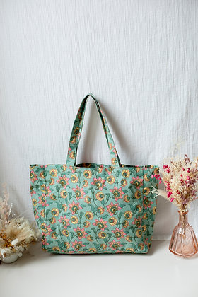 Louise Misha Beverly Tote Bag (Turquoise Flowers)