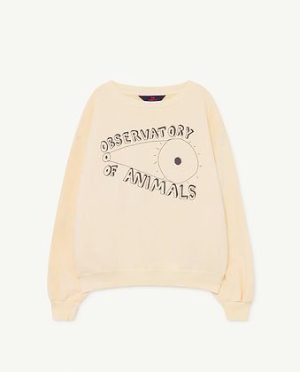The Animals Observatory Bear Kids Sweatshirt (Yellow Observatory)