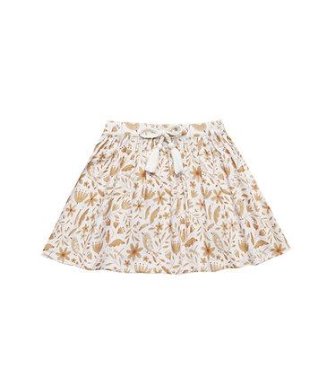Rylee + Cru Garden Birds Mini Skirt (Ivory)