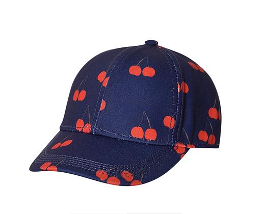 Mini Rodini Cherry Printed Cap (Blue)