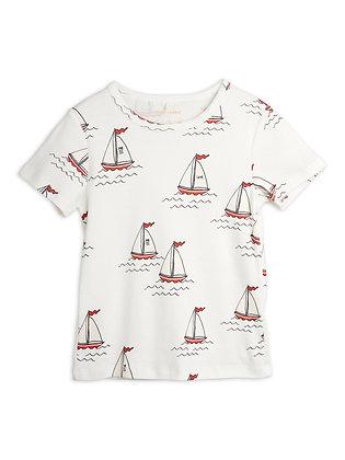 Mini Rodini Sailing Boats Tee (White)