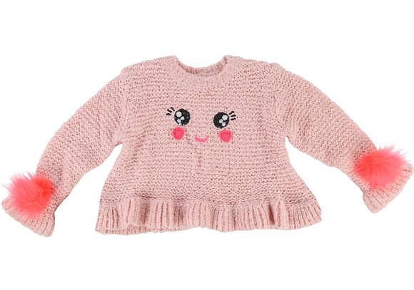 BILLIEBLUSH KNITTED SWEATER (PINK)