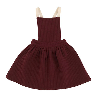 Liilu Quilted Apron (Berry Red)