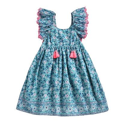 Louise Misha Edelia Dress (Emerald Flowers)