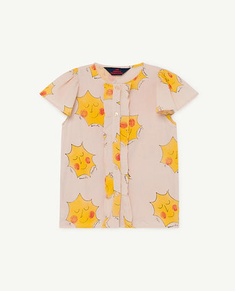 The Animals Observatory Parakeet Kids Blouse (Rose Suns)