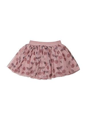 Huxbaby Cherry Tulle Skirt (Berry)