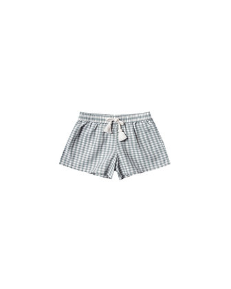 Rylee + Cru Gingham Solana Short (Sea)